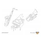 Coloriages Instruments de musique
