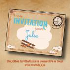 Escape Game - Les invitations à imprimer - L'Horloge des Trois Mondes