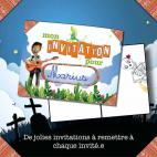 Invitations à imprimer pour l'Enquête Policière pour enfants Panique chez les Squelettes