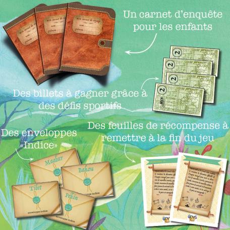 Eléments à imprimer pour la chasse au trésor enfant Le Fabuleux voyage de Marco Polo